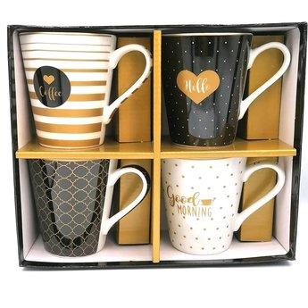 Easy Life Set van 4 Tassen - Zwart & Goud