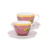 Pip Studio Set van 2 Cappuccino Koppen & Schotels - La Majorelle Roze