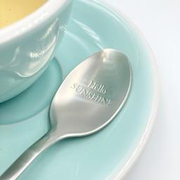 "Style De Vie One Message Spoon - ""Hello sunshine"""
