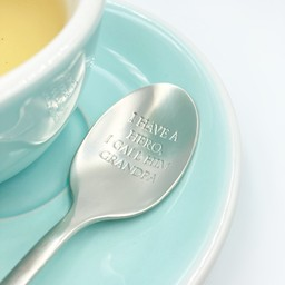 """Style De Vie One Message Spoon - """"I have a hero, ..."""""""