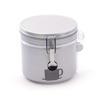 Koffie bewaardoos-zilver