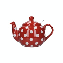 London Pottery Theepot Dots Rood 1.2L