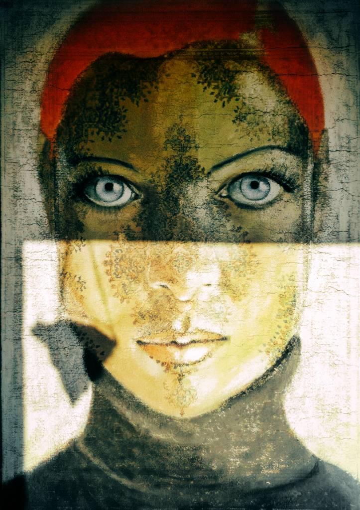Umo Art Gallery Staring blue eyes