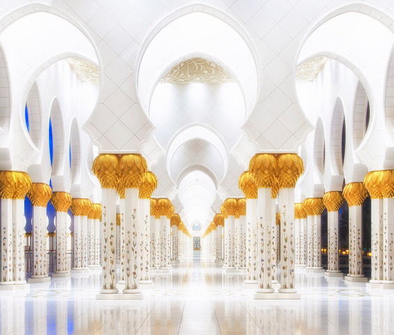 Umo Art Gallery White and Gold