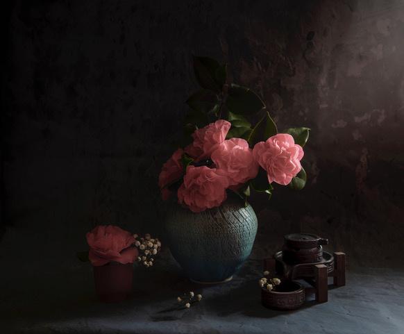 Umo Art Gallery Camellia still life