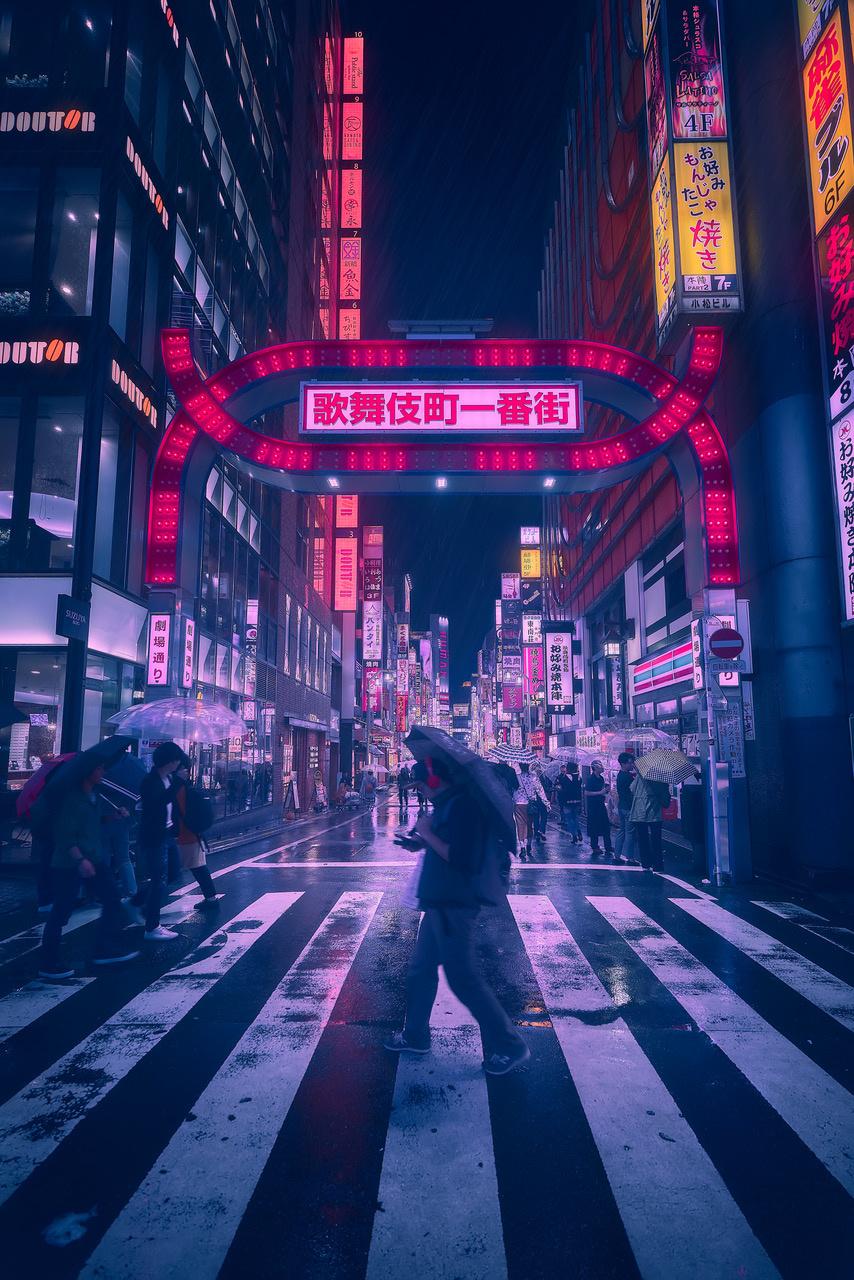 Umo Art Gallery Tokyo Blue Rain III
