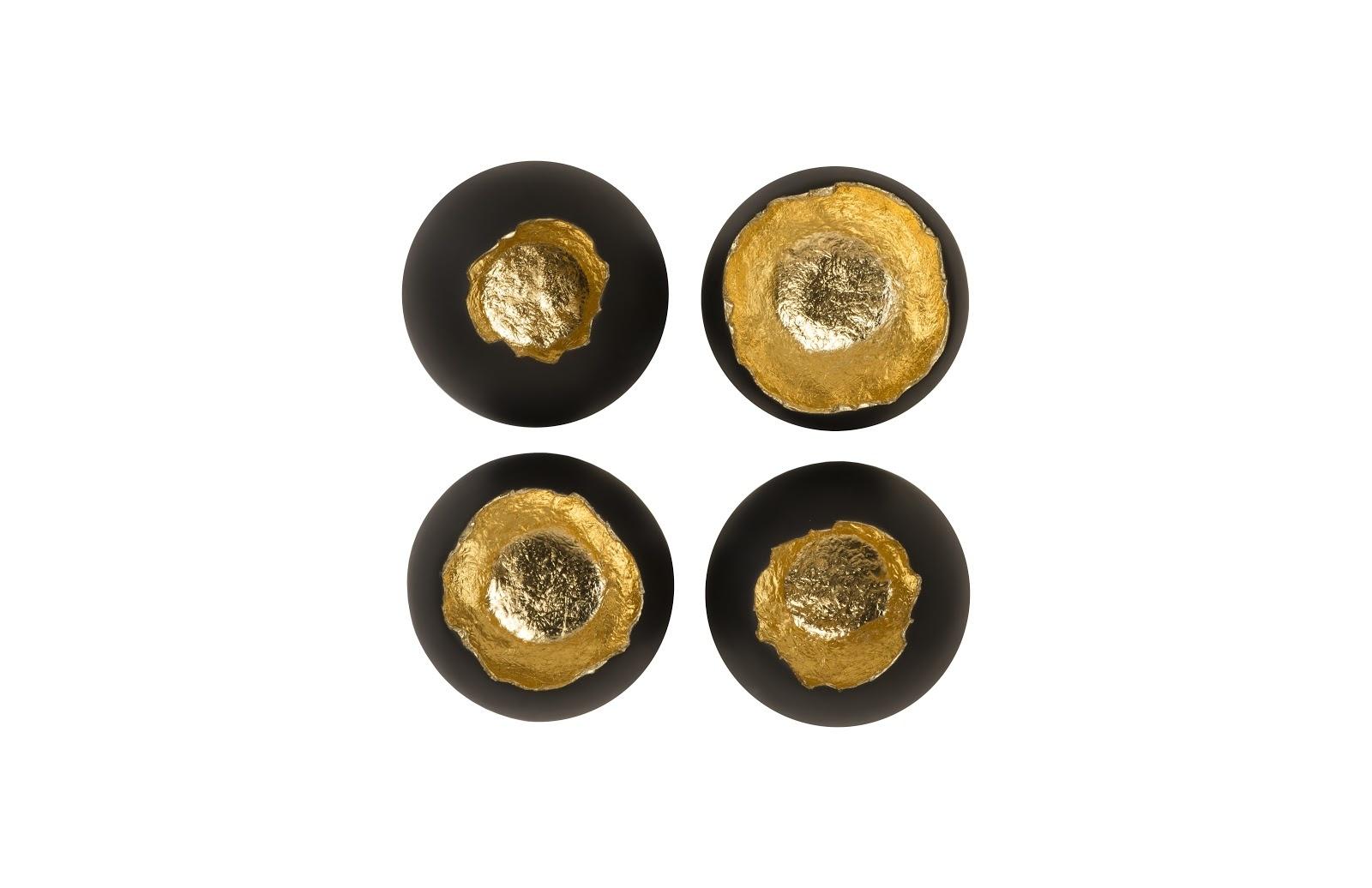 Umo Art Gallery Eggs black/gold set of 4