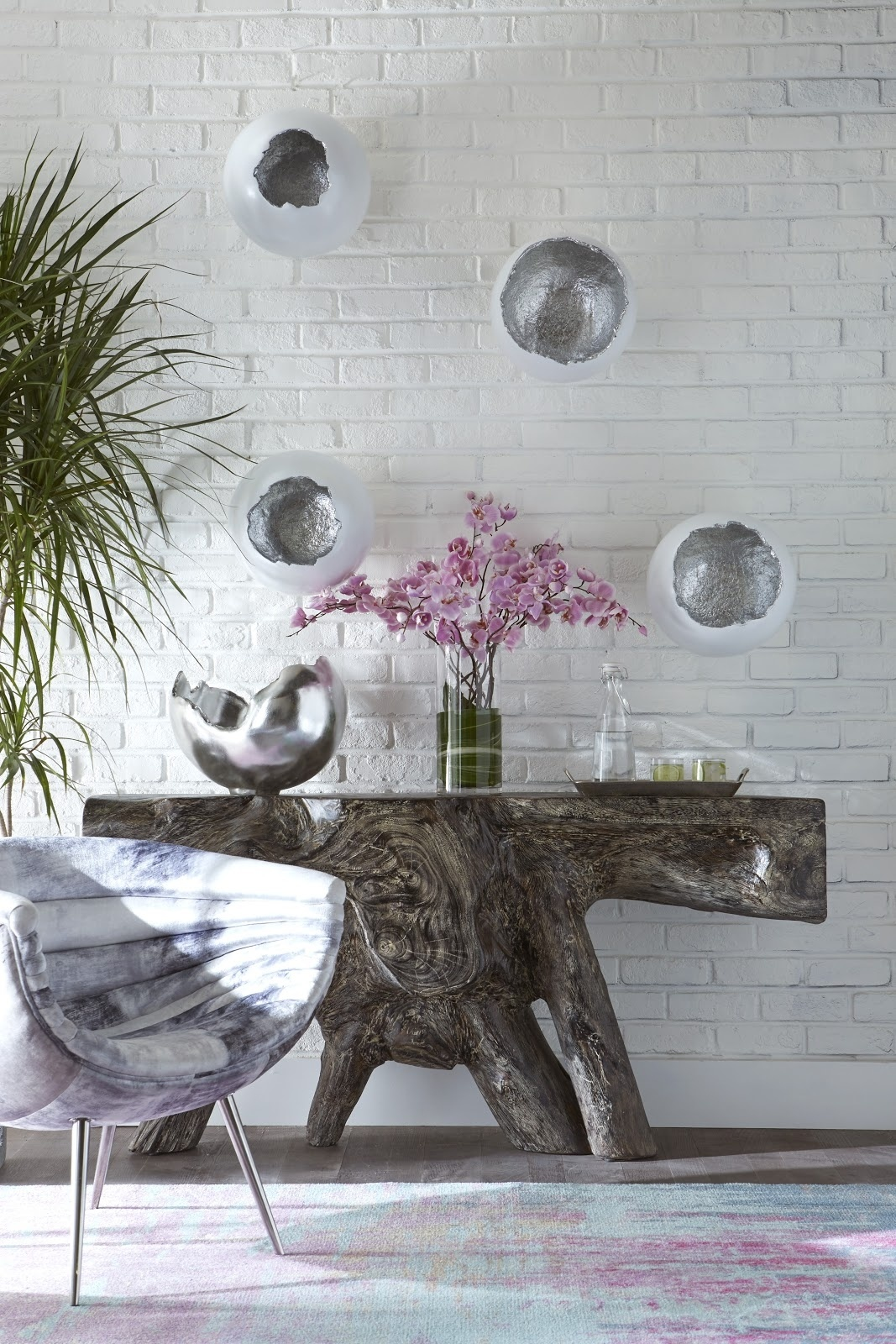 Umo Art Gallery Eggs white/silver set of 4