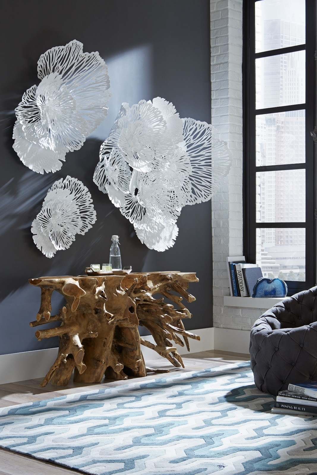 Umo Art Gallery Flower Wall Art L