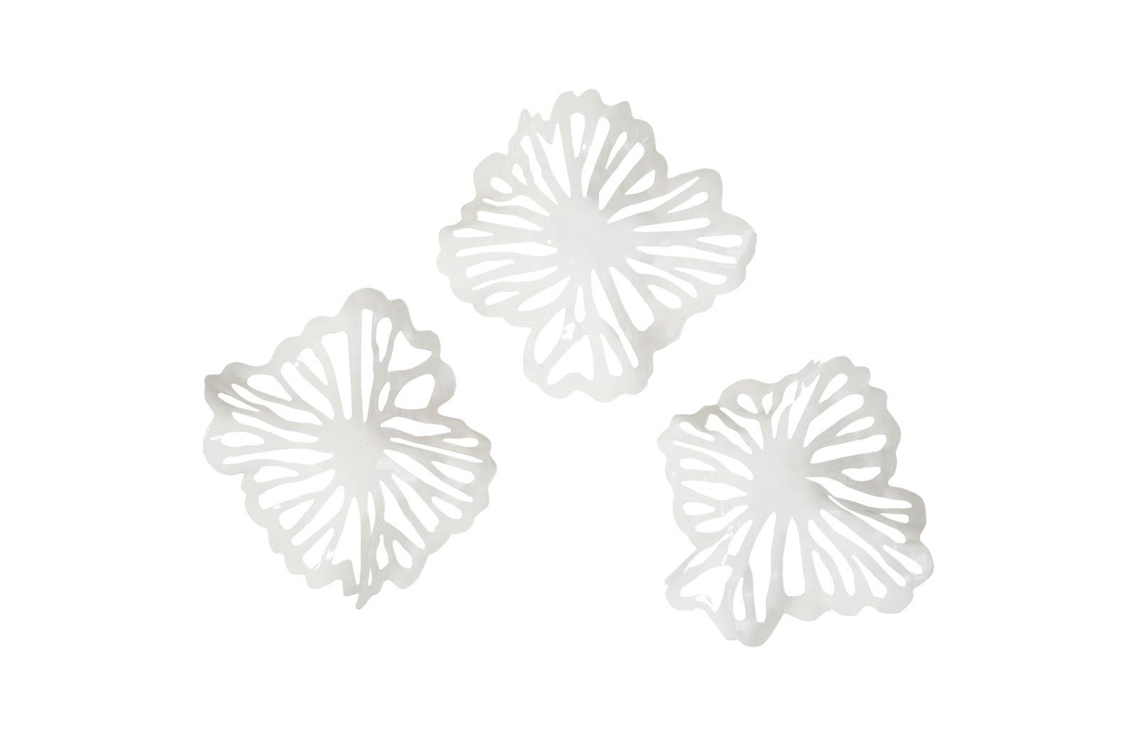 Umo Art Gallery Flower Wall Art White set of 3
