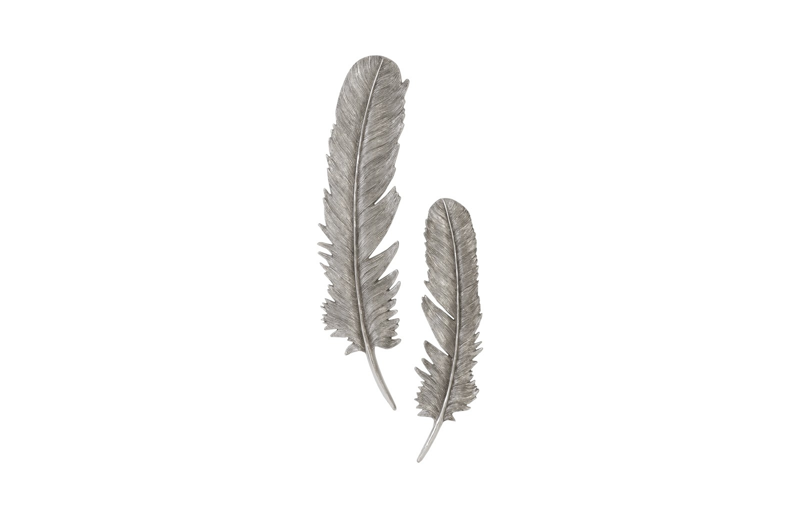 Umo Art Gallery Feathers  L set of 2 Silver