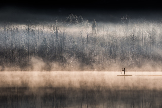 Umo Art Gallery Suping on Bohinj lake
