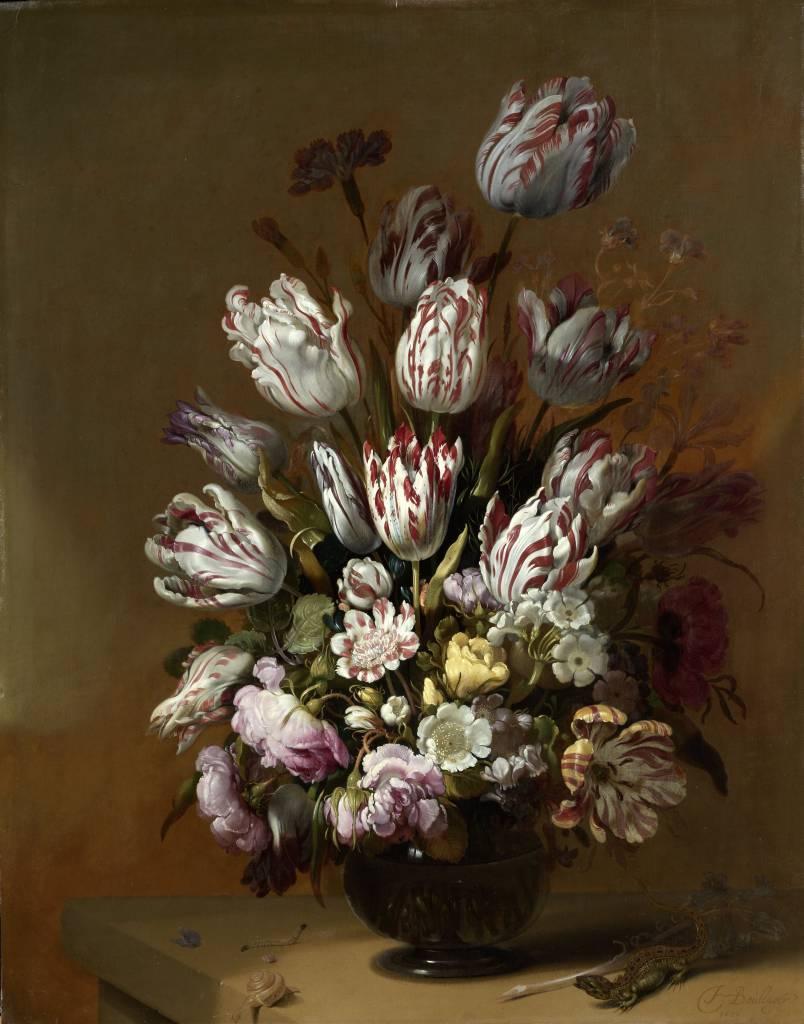 Rijksmuseum Stilleven met bloemen, Hans Bollongier, 1639