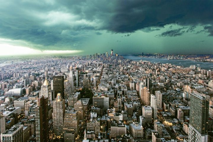 Umo Art Gallery New-York under storm