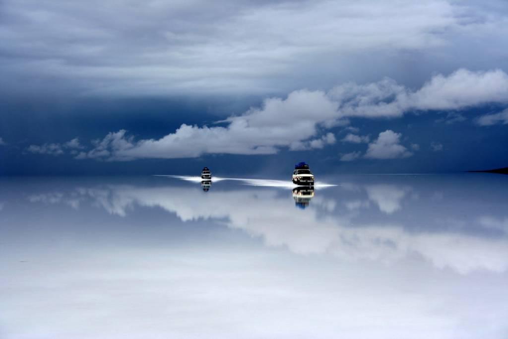 Umo Art Gallery Bolivia salt desert after the rain