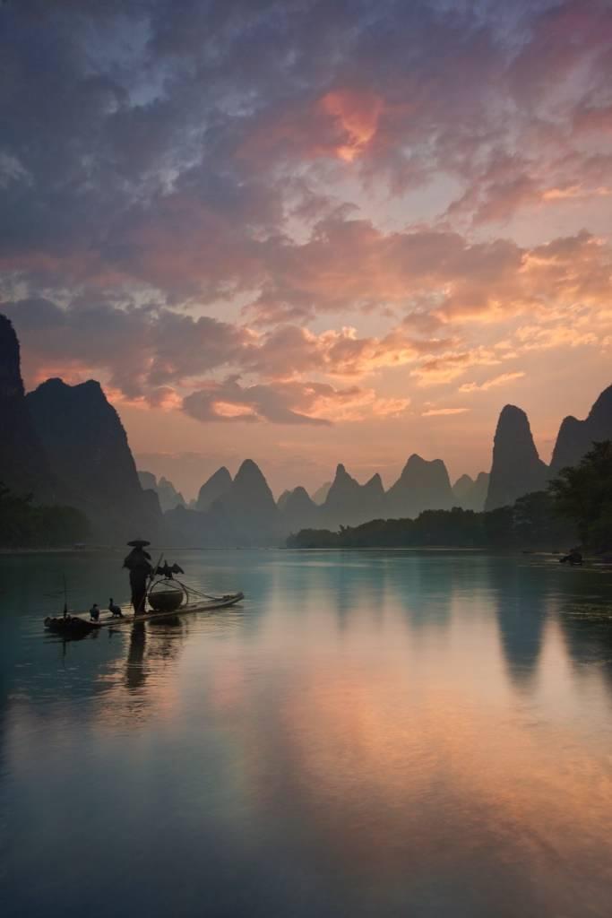 Umo Art Gallery Li River Sunrise