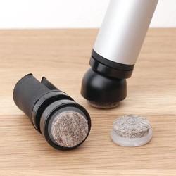 Stoelpootdoppen ECO-click inbuis kantelbaar met vervangbaar vilt + trillingsdemper