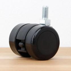 Meubelwiel 35 mm zacht loopvlak met schroef