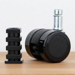 Meubelwiel 35 mm zacht loopvlak vierkante dop