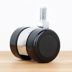 Meubelwiel 35 mm chroom zacht loopvlak met schroef