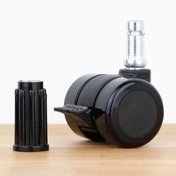 Meubelwiel 35 mm met rem zacht loopvlak ronde dop