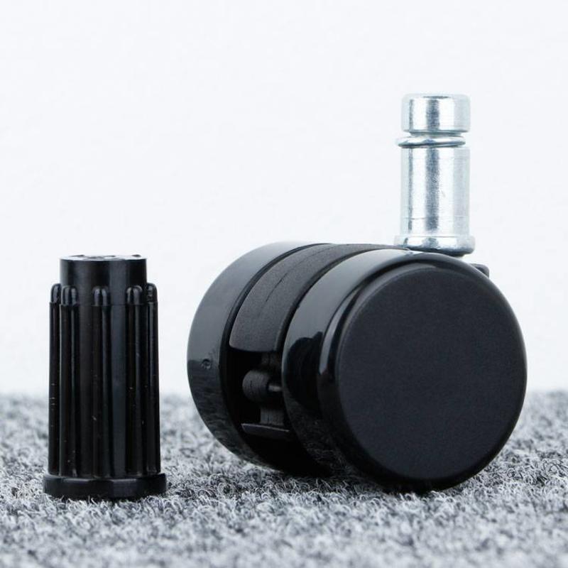 Meubelwiel 35 mm hard loopvlak met ronde dop