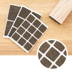 Plakvilt vierkant 3,5 mm bruin