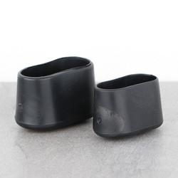 Stoelpootdoppen ombuis zware kwaliteit ovaal