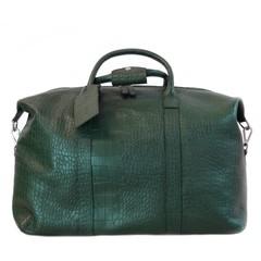 XL REISETASCHE PARIS Leder grün croco