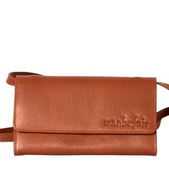 CLUTCH LILY leather cognac