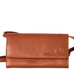 manbefair CLUTCH LILY leather cognac