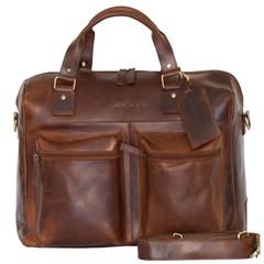 TRAVEL BAG VENEZIA leather antique brown