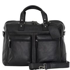 TRAVEL BAG VENEZIA leather black