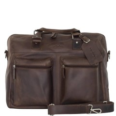 manbefair VENEZIA TRAVEL BAG leather brown waxy