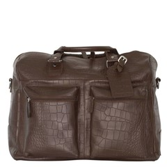 manbefair TRAVEL BAG VENEZIA  leather brown croco