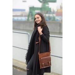 SHOULDER BAG AMALIA leather brown
