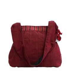 manbefair COTTON SHOULDER BAG LA MER red