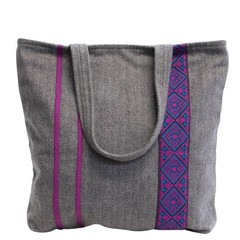 TWEED SHOPPER MIRAGE grau