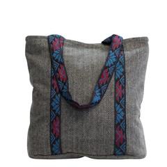 0f77b88b64111 Canvas Tasche grau - mit Eco-Leder - fair - manbefair - Fair Trade ...