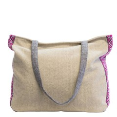 manbefair TWEED SHOULDER BAG FELICITAS beige