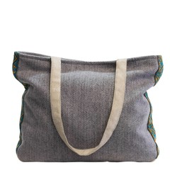 TWEED SHOULDER BAG FELICITAS grey