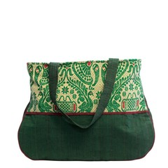 manbefair QUILTED COTTON BAG KATINKA green