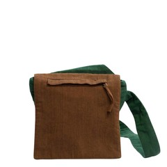 CROSS BODY BAG SUN green and brown