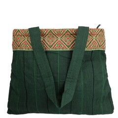 manbefair QUILTED COTTON BAG LUNA green