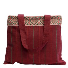 QUILTED COTTON BAG LUNA red