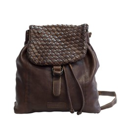 manbefair BACKPACK ROSALIE leather darkbrown