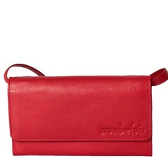CLUTCH LILY red leather