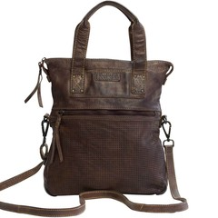 manbefair BARCELONA SHOPPER leather darkbrown