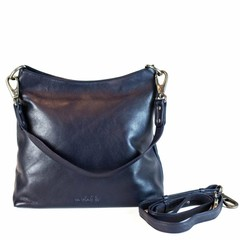 manbefair SHOPPER AVA leather blue