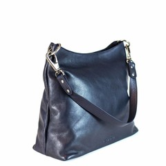 SHOPPER AVA leather blue